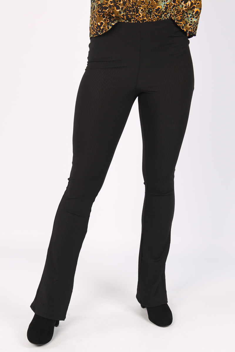 Cars Jeans zwarte flared broek Zuma 7995301