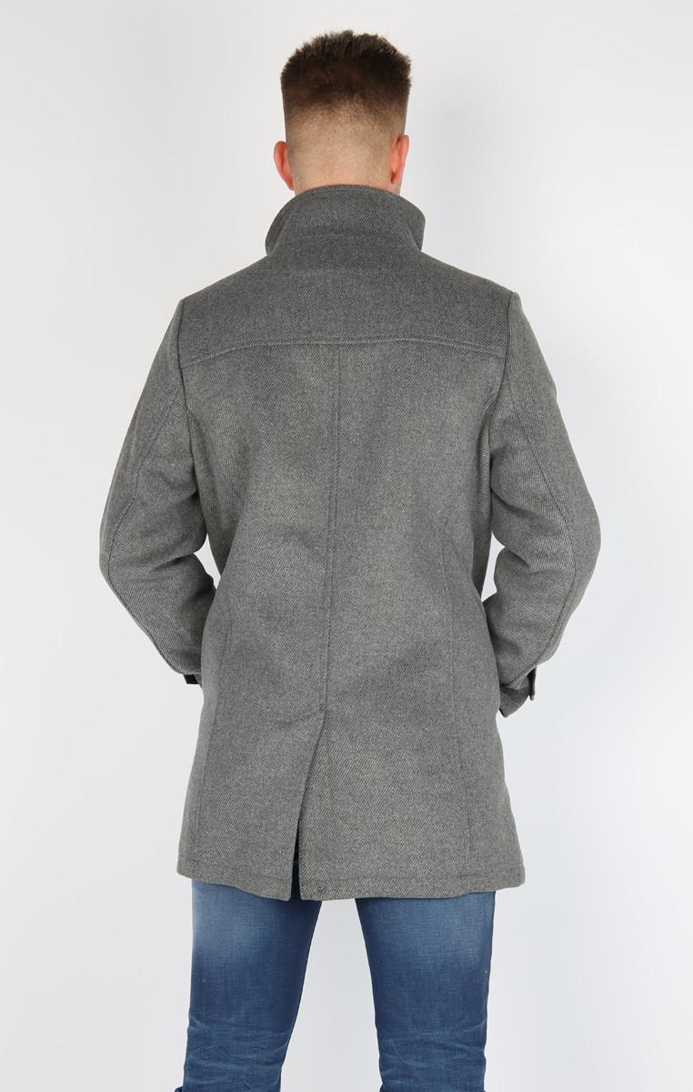 Tom Tailor Denim Korte jas met wol Lichtgrijs gemêleerd